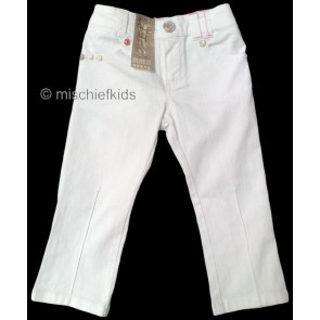 Mayoral 28682 Girls 2yr Sample White Straight Fit Jeans