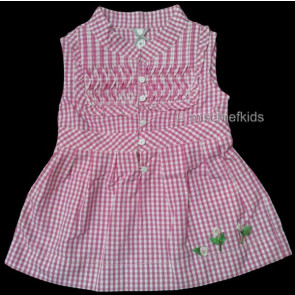 Mayoral 28687 Girls 2yr Sample Pink Gingham Top