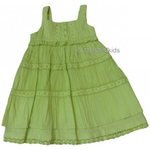 Mayoral 28708 Girls 2yr Sample Lime Crinkle Dress