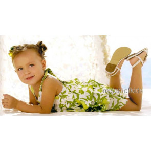 Mayoral 28716 Girls 2yr Sample Green Floral Dress