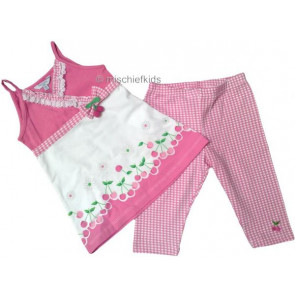 Mayoral 28721 Girls 2yr Sample Pink Top and Crop Leggings