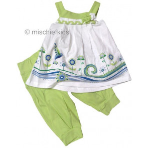 Mayoral 28731 Girls 2yr Sample Top and Lime Crop Pants