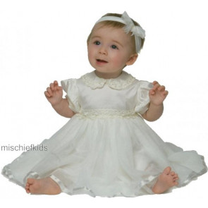 Little Darlings D1310 Tinkerbell Silk Tulle Christening Dress