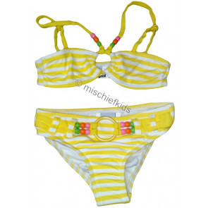 Mayoral 28739 Girls 2yr Sample Lemon Stripe Bikini