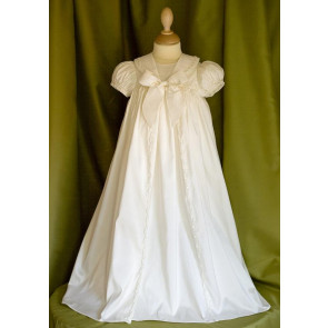 Angels and Fishes RAPHAEL Ivory Silk Unisex Braid Gown