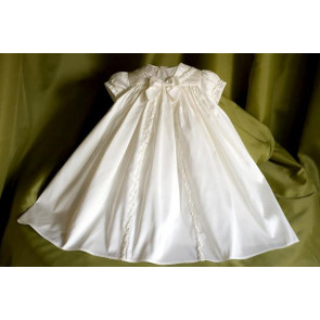 Angels and Fishes PEACE Ivory Silk Unisex Premature Tiny Baby Christening Gown