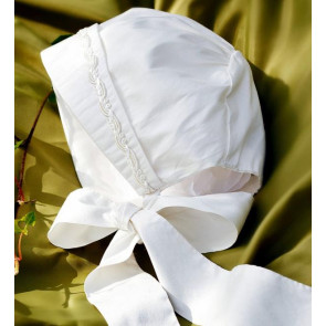 Angels and Fishes RAPHAEL Ivory Silk Unisex Braid Bonnet