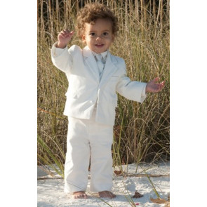 Sarah Louise 002245 Ivory Five Piece Velvet Suit