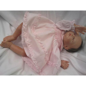 Sarah Louise 0107506 Smocked Baby Dress & Panties PINK