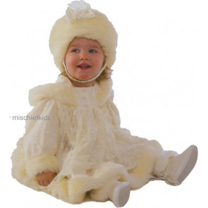 Little Darlings D373 Angel Victorian Ivory Hooded Coat Dress