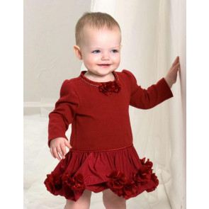 Kate Mack 29124 Red Puffball Dress