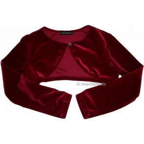 Kate Mack 29128 Red Velvet Bolero Shrug
