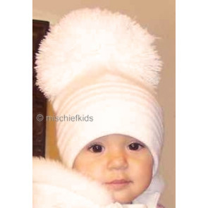 Satila of Sweden EDSBYN Unisex Huge Pom Hat IVORY CREAM