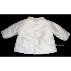 Kate Mack MACK J Cherished Heirloom Boys Antique White Silk Jacket