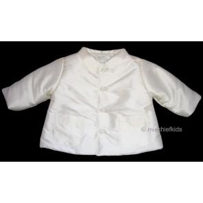 Kate Mack MACK J Cherished Heirloom Boys Antique White Silk Jacket