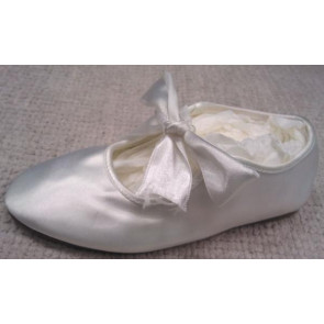 Little People BREE White Satin Ballet Style Shoe