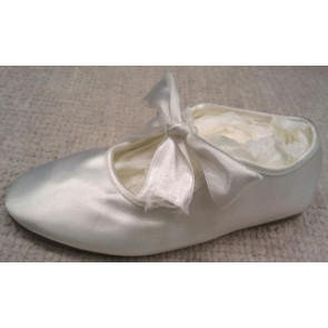 Little People BREE Ivory Satin Ballet Style Shoe