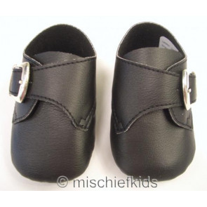 Frazer and James S004 Buckle Pram Shoes BLACK