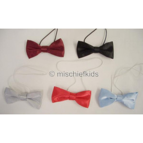 Antonio Villini PD007 Bow Tie on Elastic BLACK BLUE SILVER BURGUNDY AND RED