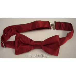 Antonio Villini PD008 Burgundy Adjustable Bow Tie