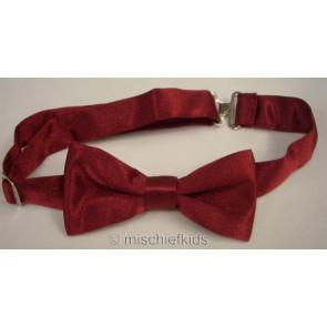 Antonio Villini PD008 Burgundy Adjustable Bow Tie