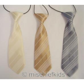 Antonio Villini PD012 Stripe Tie on Elastic SILVER BRONZE or CREAM