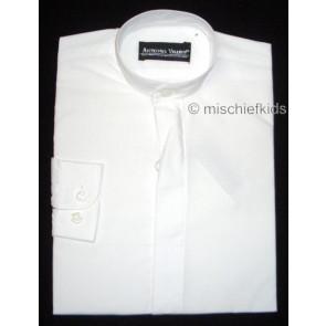 Antonio Villini PDNERU White Grandad Collar Shirt