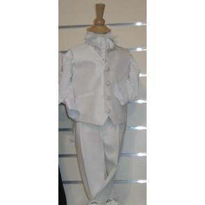 Antonio Villini PDSICILY White Four Piece Cravat Waistcoat Suit