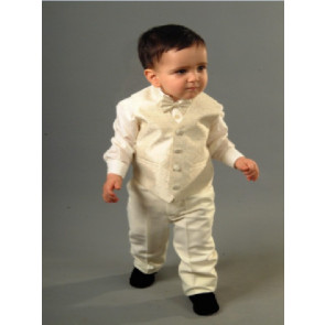 Antonio Villini PDMILAN Cream 4 Piece Waistcoat, Shirt, Trouser and Bow Tie Suit
