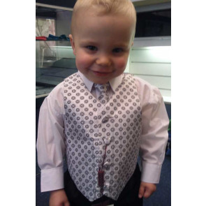 OCCASIONS FREDDIE Silver Four Piece Waistcoat Suit