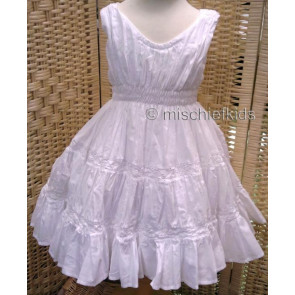 Eliane et Lena 31455 Sample Ruffled Dress BLANC