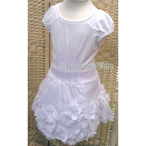 Eliane et Lena 31457 Sample Flower Dress BLANC