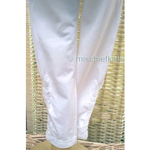Eliane et Lena 31461 Sample Ruched Leggings BLANC