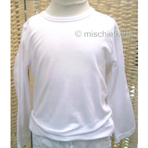 Eliane et Lena 31462 Sample Long Sleeve Top BLANC