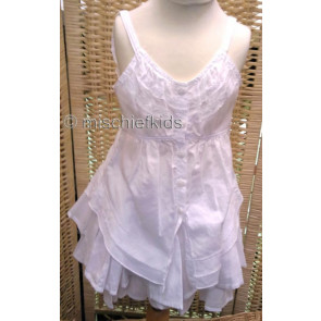 Eliane et Lena 31465 Sample Ruched Top BLANC