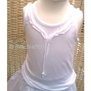 Eliane et Lena 31472 Sample Vest Top BLANC