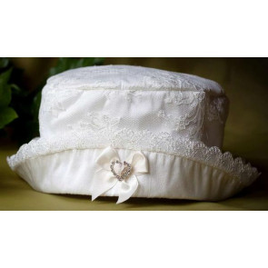 Angels and Fishes AMELIE MARIA CHLOE Silk and Lace Christening Hat