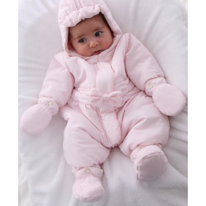 Emile et Rose E1447pp Pink Snowsuit, Booties and Mittens Set