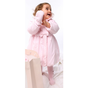 Emile et Rose 9176 Pink Bubble Hem Padded Jacket and Mittens PINK