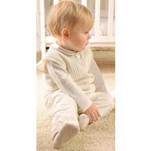 Emile et Rose E9450iv Ivory Tank Top, Shirt and Trouser Set