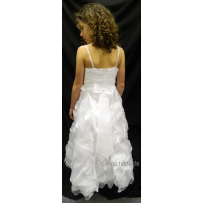 OCCASIONS CHERYL A6-7A04X White Ruche Communion Dress