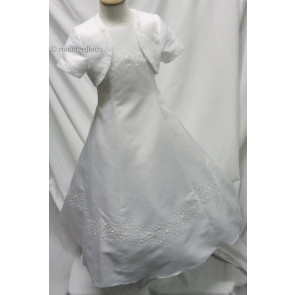 Little People 80290 DASIA White Communion Dress and Bolero Jacket