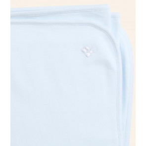 Emile et Rose E8134 Soft Cotton Swaddle Blanket WHITE PINK or BLUE
