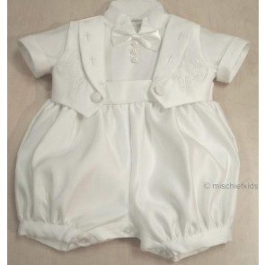 OCCASIONS BILLY BUBBLE Bright White Satin Romper