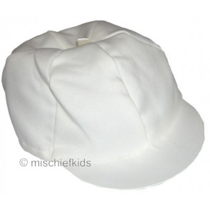 Antonio Villini FC9010 Satin Christening Cap in IVORY CREAM or WHITE