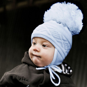 Satila MALVA Huge Pom Hat BABY BLUE