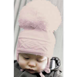Satila of Sweden MALVA Huge Pom Hat PINK