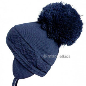 Satila MALVA Huge Pom Hat NAVY