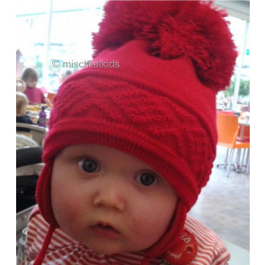 Satila of Sweden MALVA Huge Pom Hat RED