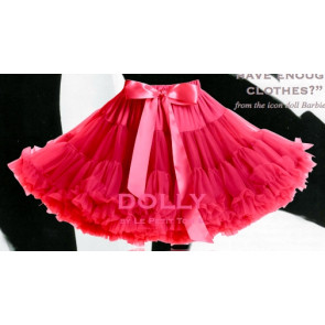 DOLLY Vintage Barbie Fuschia Pink Tulle Pettiskirt Tutu Skirt